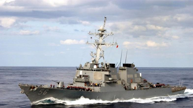 US Navy destroyer USS John S. McCain collides with merchant vessel