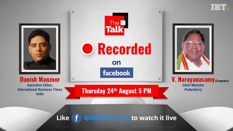The Talk with Chief Minister of Puducherry - V. Narayanasamy