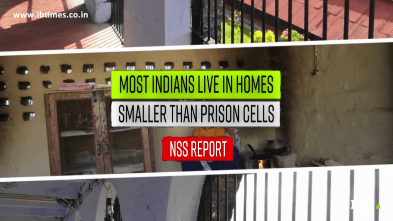 Most Indians reside in homes smaller than prison cells