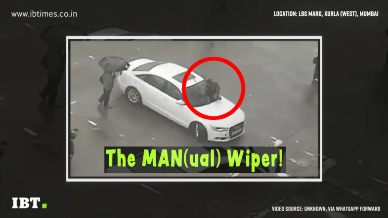Mumbai car owner does weird jugaad, gets MAN(ual) wiper