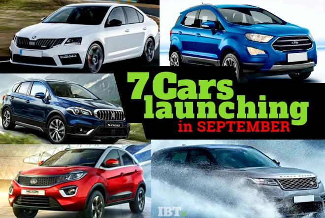 Upcoming cars in September 2017
