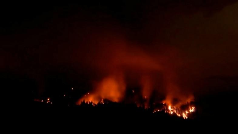 Timelapse shows spread of Oregon Eagle Creek wildfire