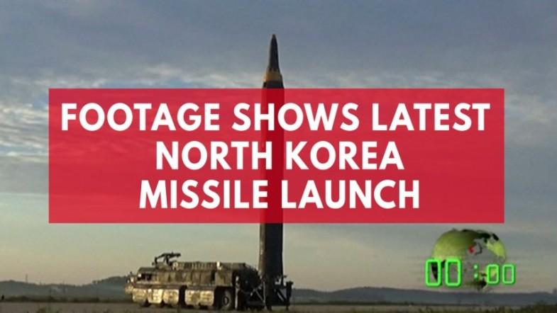 Video shows launch of latest North Korean missile
