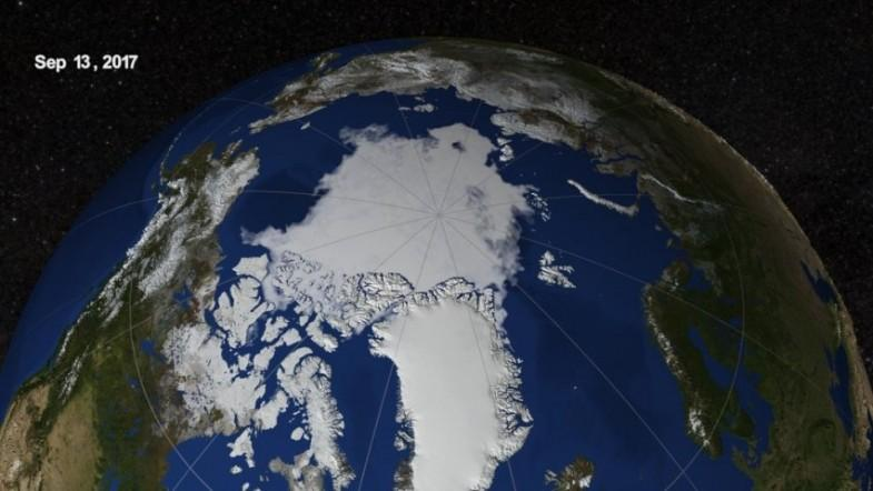 Arctic ice on record low