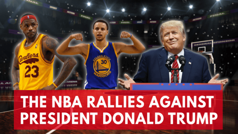 Trump Vs. The NBA: Steph Curry, LeBron James and other big stars take on the president
