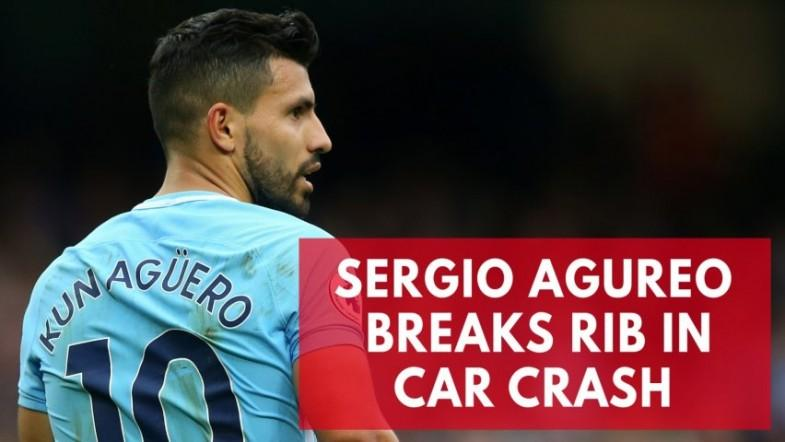 Manchester City striker Sergio Aguero breaks rib in Amsterdam car crash