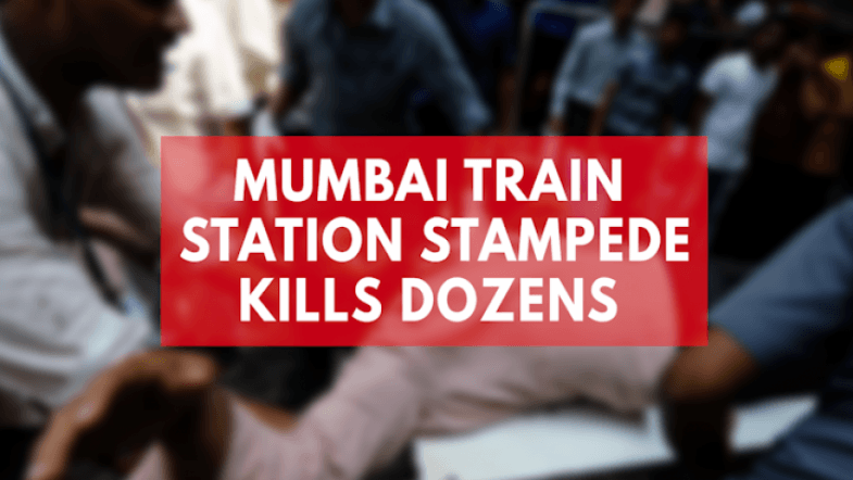 Footage shows huge crowd moments before deadly stampede kills dozen at Mumbai train station