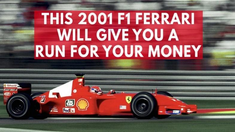 Michael Schumachers 2001 F1 Championship Ferrari will cost you $4 million
