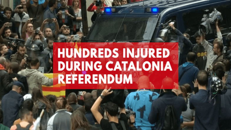 Hundreds injured in violence over Catalonia referendum