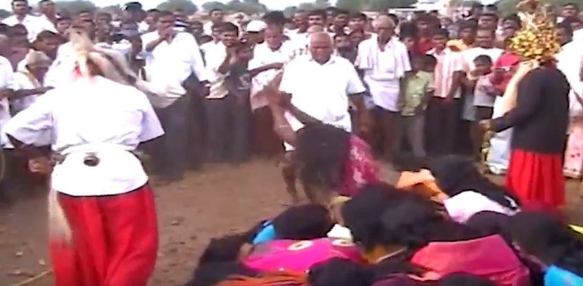 Mass Whipping Of Women And Schoolgirls In Trichy By -4966