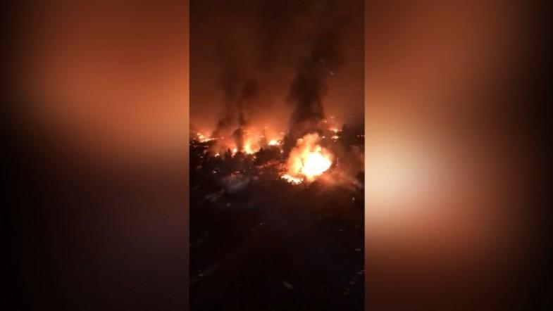 Helicopter footage shows inferno of Santa Rosa wildfire
