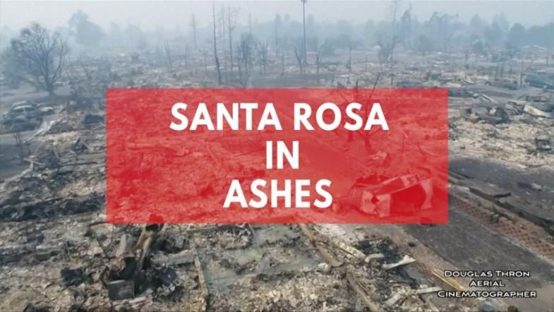 Drone footage shows fire decimated Santa Rosa