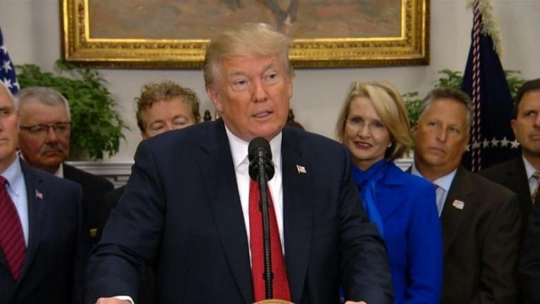 President Trump signs executive order to rollback Obamacare