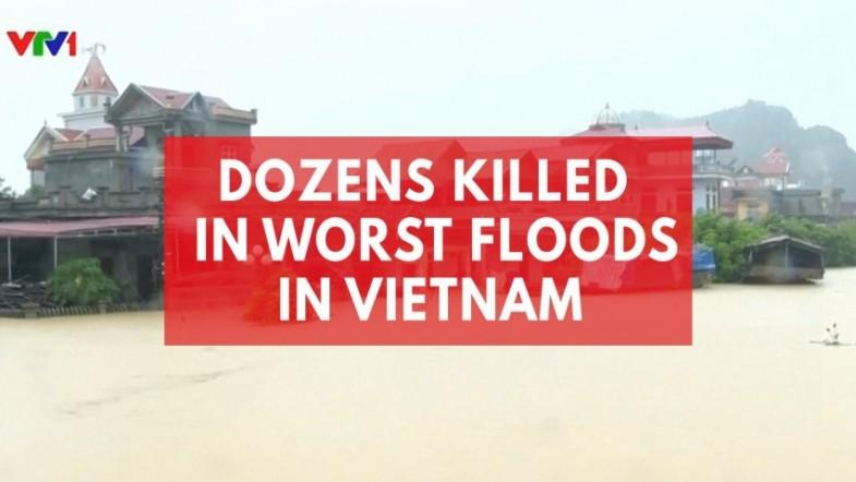 At least 54 killed as worst floods in years batter Vietnam