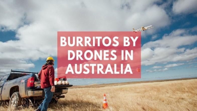 Burrito-dropping drones come to rural Australia