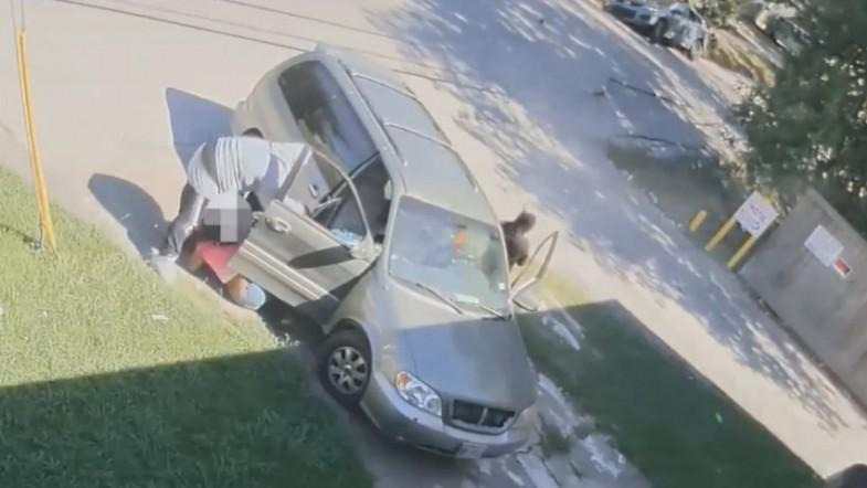 Armed carjackers pull woman and baby out of Houston car