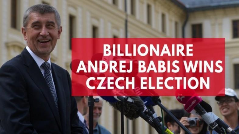 Czechs Trump, billionaire Andrej Babis, wins the general election