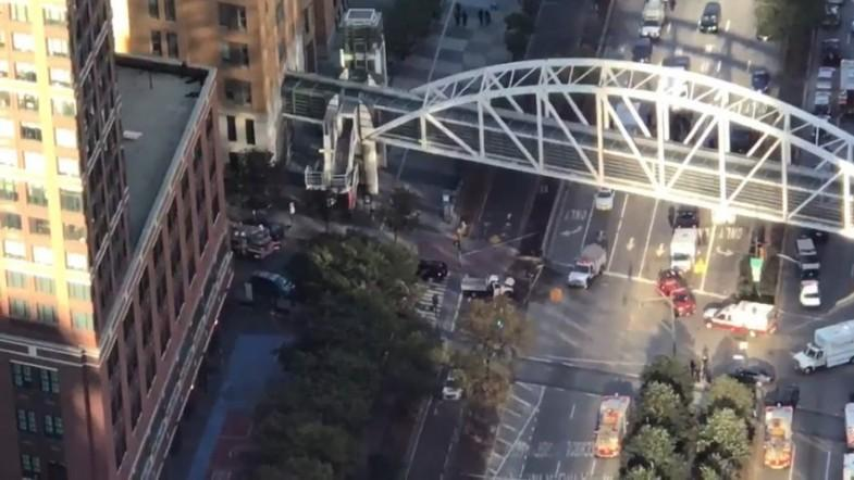 New York attack: Amateur footage shows aftermath of truck ramming in lower Manhattan