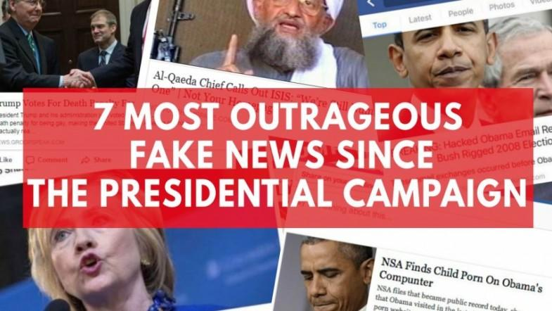 Facebook, Google and Twitter have circulated some of the most outrageous fake news