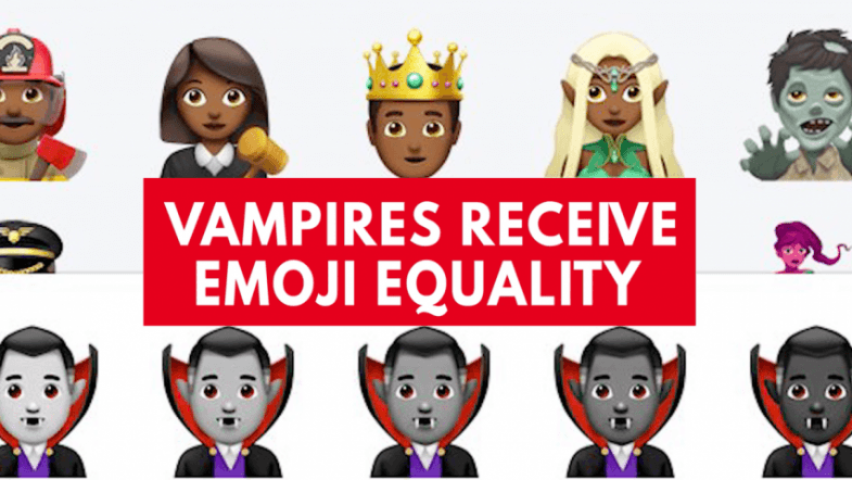 Do vampire emojis need to have equality?