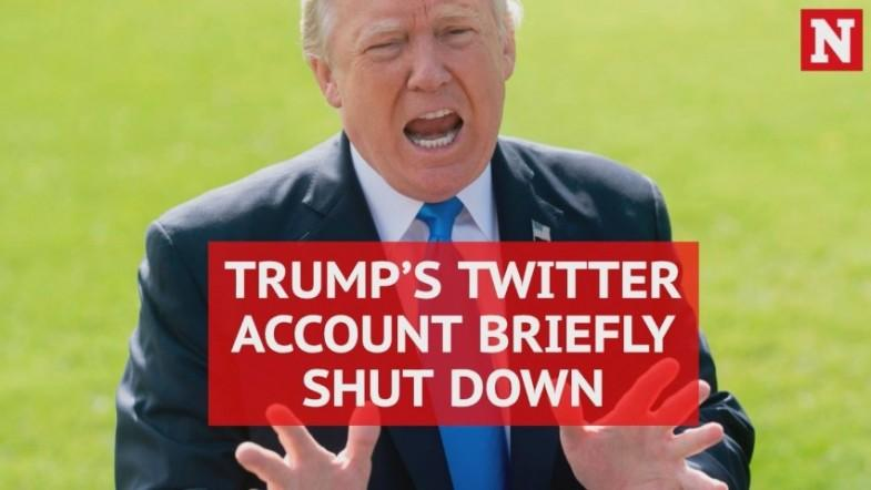 Donald Trumps Twitter account deactivated by employee on last day of work