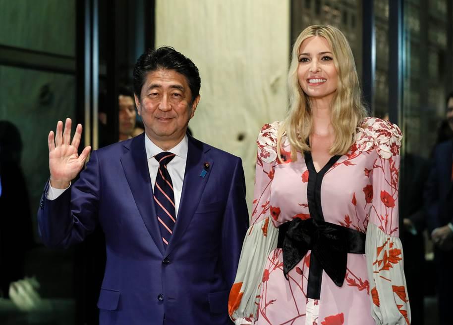 Ivanka Trump stuns in $1,995 kimono-inspired cherry blossom print dress in Japan [PHOTOS]