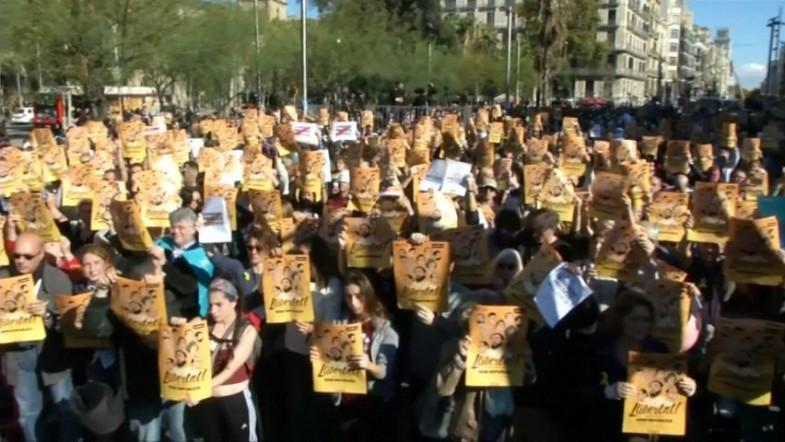 Protestors demand release of detained Catalan leaders