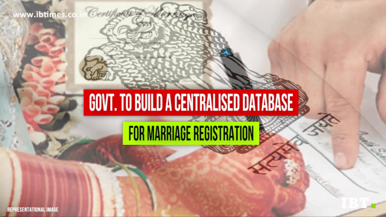 Govt. to build a centralised database for marriage registration