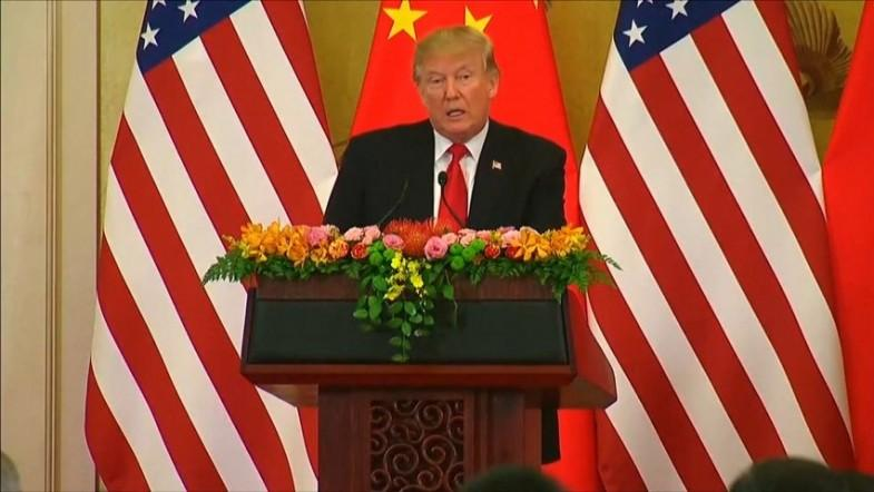 Donald Trump says trade with China has been Unfair in joint Xi speech