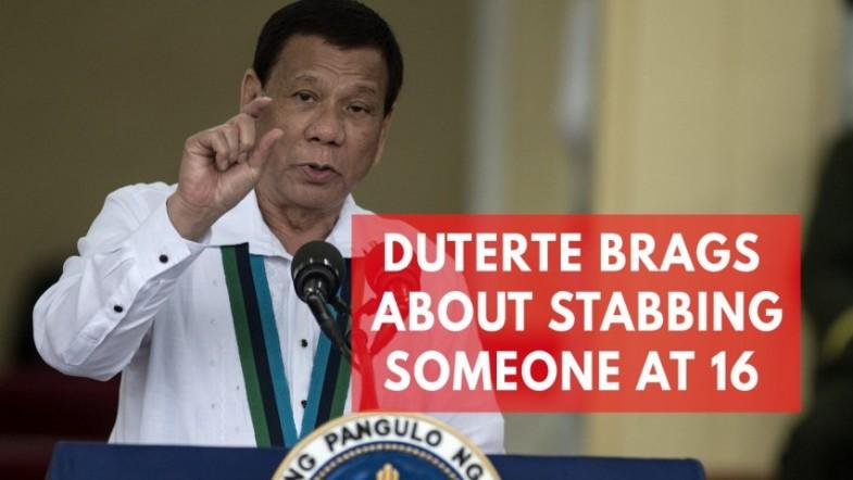 Philippine President Duterte claims he stabbed someone to death at 16