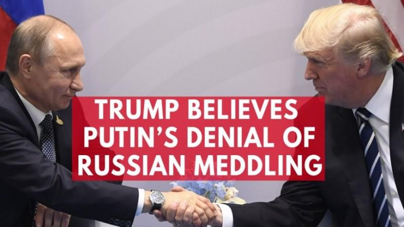 Trump says he believes Putin on Russias innocence in meddling in the 2016 presidential election