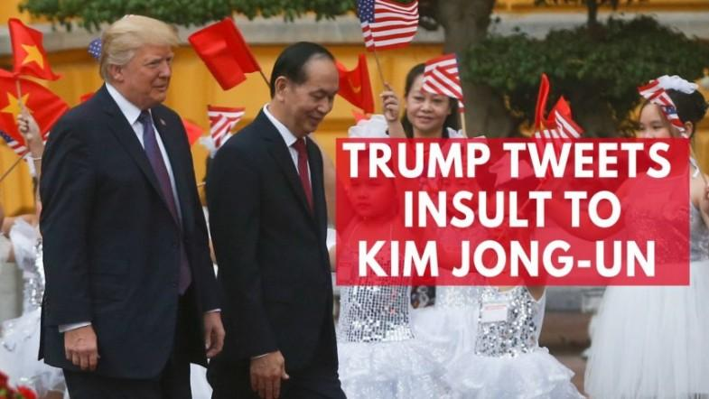 President Trump responds to North Korea with sarcastic insult