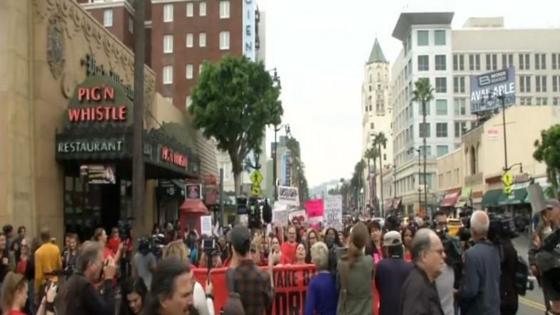 Thousands participate in #MeToo rally in Hollywood