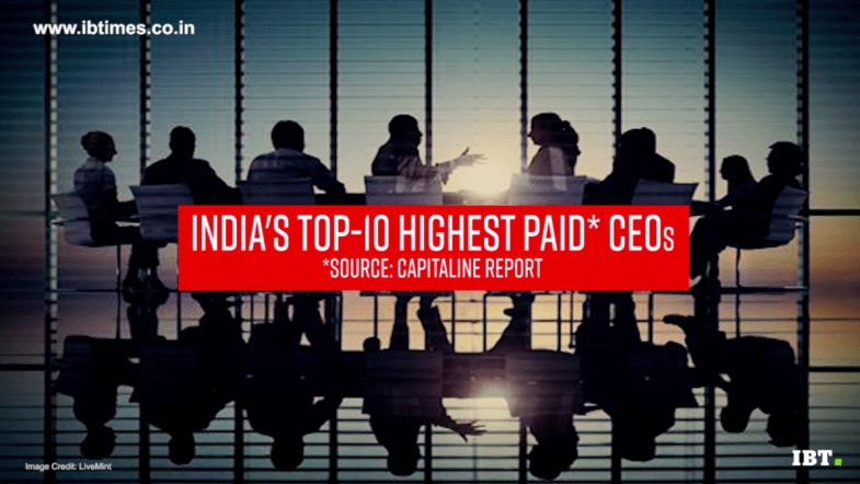 Meet Indias 10 highest paid CEOs: 2017