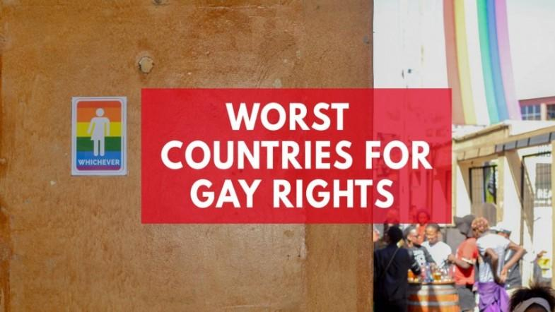 Worst countries for gay rights