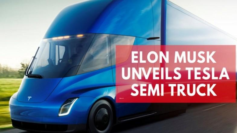Elon Musk unveils Tesla electric semi truck nicknamed the beast
