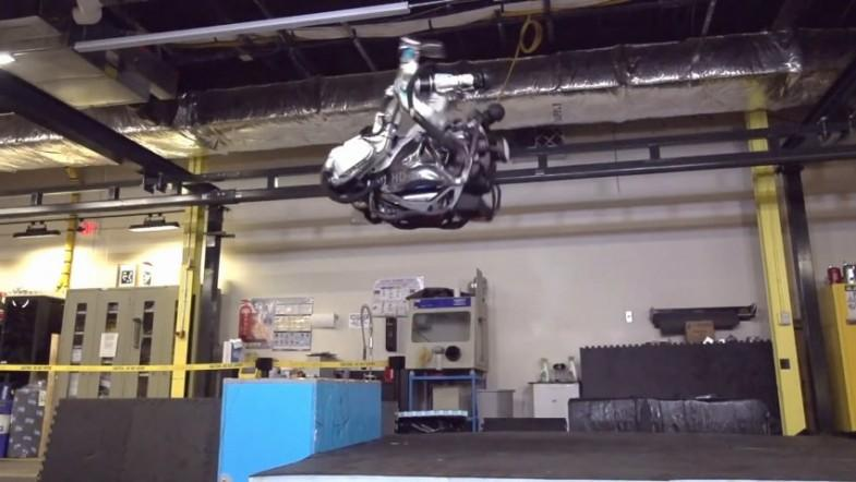 Watch Boston Dynamics robot Atlas do a backflip