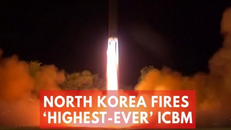 North Korea launches highest-ever ICBM that puts Washington, DC in range