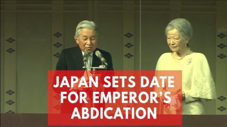 Japans Emperor Akihito to formally renounce throne in April 2019