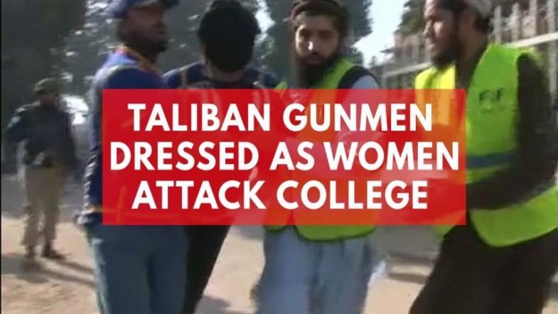Taliban gunmen disguised in burqas attack college in Pakistan killing 9