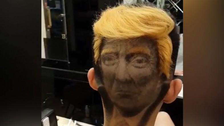 You can now get a Donald Trump hair tattoo