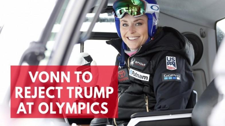 Lindsey Vonn to reject President Trump at winter olympics games