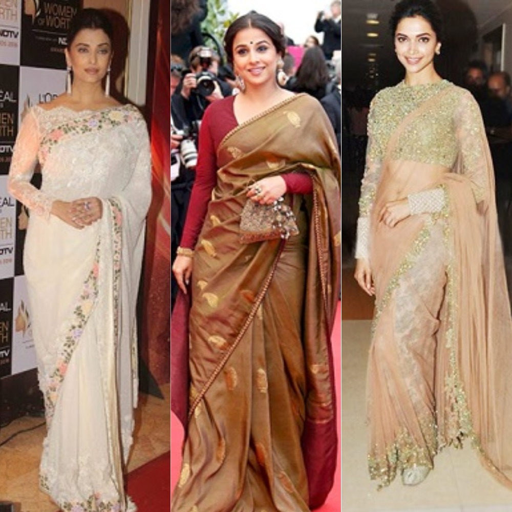 10 Bollywood Actresses Who Look Their Best In Sarees -3408