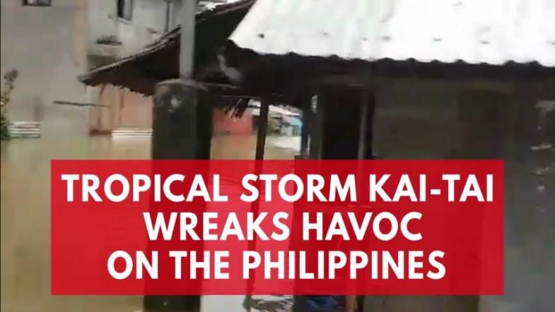 Tropical storm Kai-tak wreaks havoc on the Philippines
