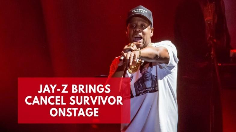 Jay-Z halts show to bring woman who beat cancer twice onstage