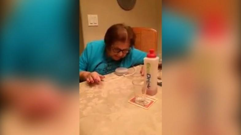 Italian grandmothers hilarious reactions as she tries to use Google Home device