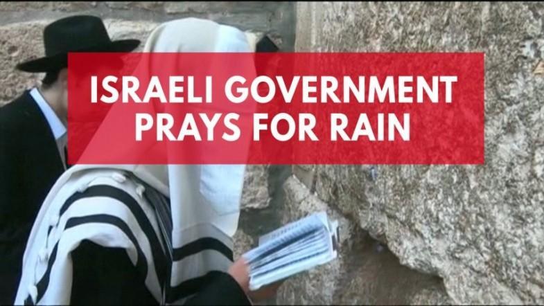 Israeli Jews pray for rain at western wall in Jerusalem