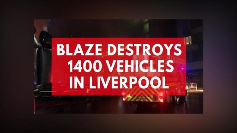 Massive car park fire in Liverpool destroys 1,400 vehicles