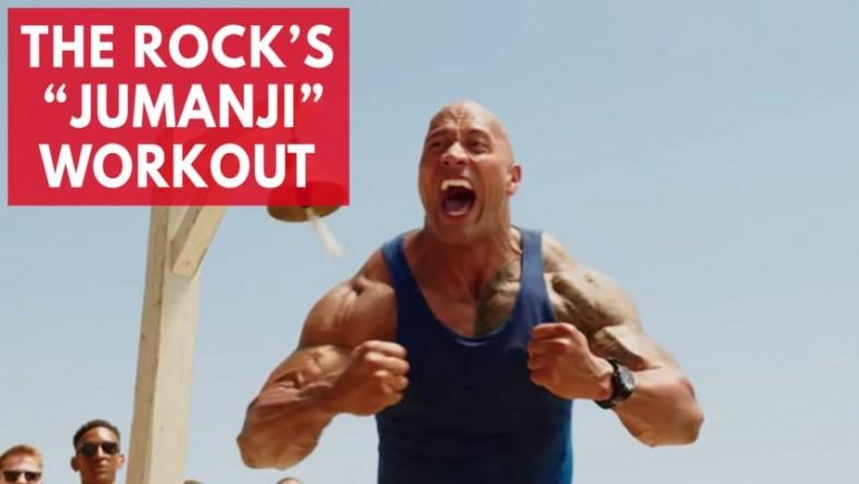 Heres what Dwayne The Rock Johnsons Jumanji workout looks like