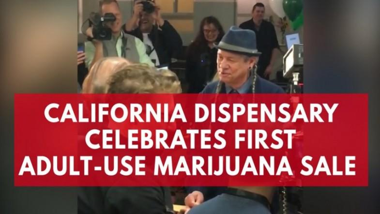 California dispensary celebrates first adult-wse marijuana sale